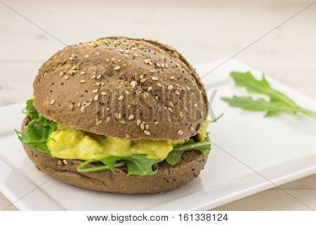 Dark Bread With Curried Chicken Salad