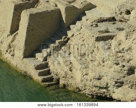 Ancient Steps In Reservoir