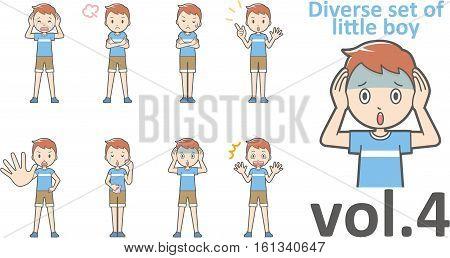 Diverse Set Of Little Boy , Eps10 Vector Format Vol.4
