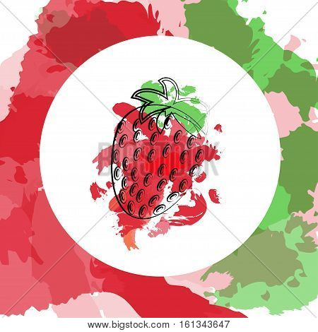 Strawberry Berry Leaf