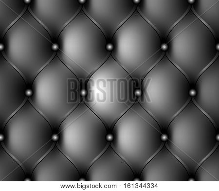 Luxury leather upholstery. Royal background with elements button tufted. Vector illustration