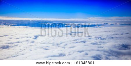 Clouds on a blue sky background
