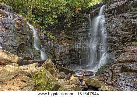 Soco Falls In Maggie Valley North Carolina