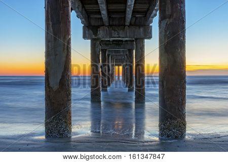 Sunrise Under The Pier In St. Augustine Florida