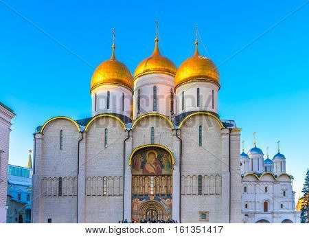 Assumption Cathedral (Cathedral of the Dormition Uspensky sobor) in Moscow