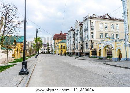 Pedestrian street in Old Tatar Sloboda in Kazan