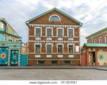 Beautiful old brick house in Old Tatar Sloboda in Kazan