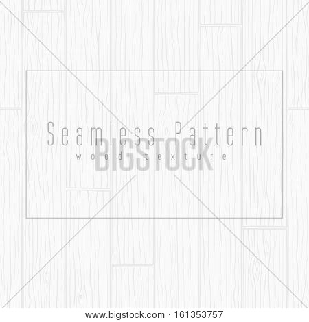 Wood texture seamless background, made of boards. Grey vector pattern.