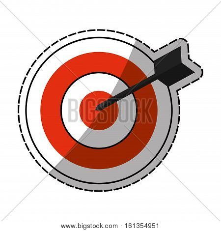 Dartboard target game icon vector illustration graphic design