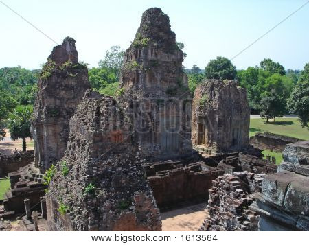 Four Old Khmer Pyramid Temple, Bayon, Angkor Vat Temples, Cambodgia