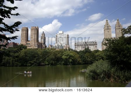 Rowboating In Central Park
