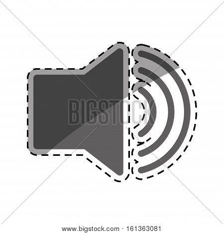 Volume bullhorn symbol icon vector illustration graphic design
