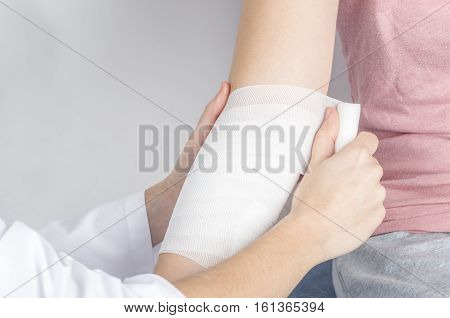 Compression Bandage To Inflammation.