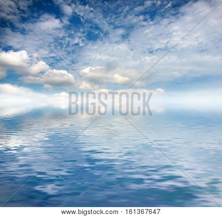 endless beautiful ocean surface and sun skyscape