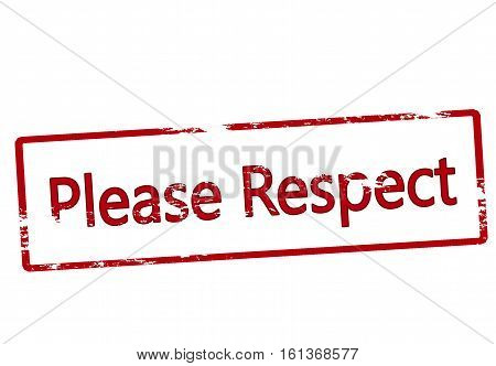 Stamp with text please respect inside vector illustration