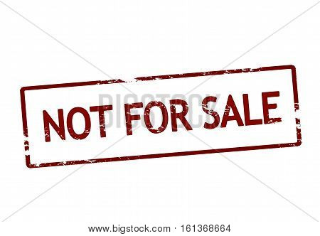Stamp with text not for sale inside vector illustration