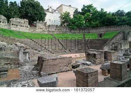 The old Roman Theater in Trieste Italy.