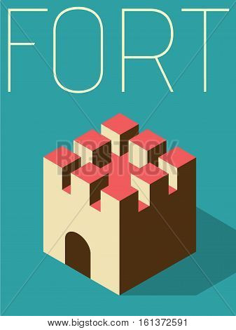 Vector Minimal Design Poster  - Fort Object
