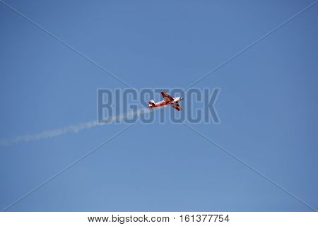 small sports light aircraft in the sky