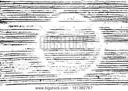 Distressed halftone grunge vector texture - corrugated cardboard background with circle stain