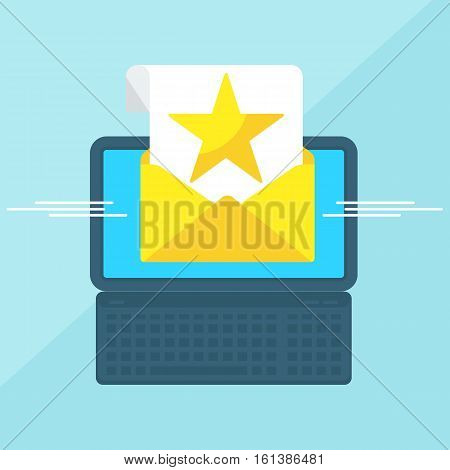 Laptop With Envelope Star