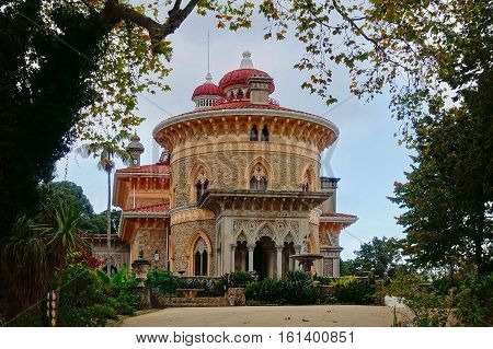 Sintra, Portugal, November 18, 2016: The Monserrate palace at Sintra in Portugal.