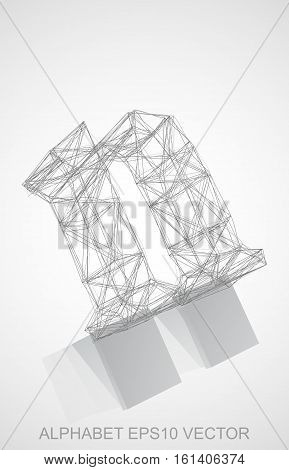 Abstract illustration of a Pencil sketched N with Reflection. Hand drawn 3D N for your design. EPS 10 vector illustration.