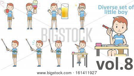 Diverse Set Of Little Boy , Eps10 Vector Format Vol.8