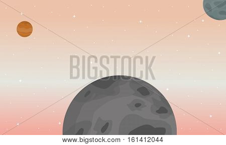Vector art of space landscape collection stock