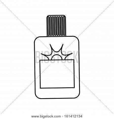 Sun bronzer bottle icon vector illustration graphic design