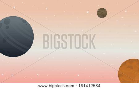 Space landscape backgrunds vector illustration collection stock