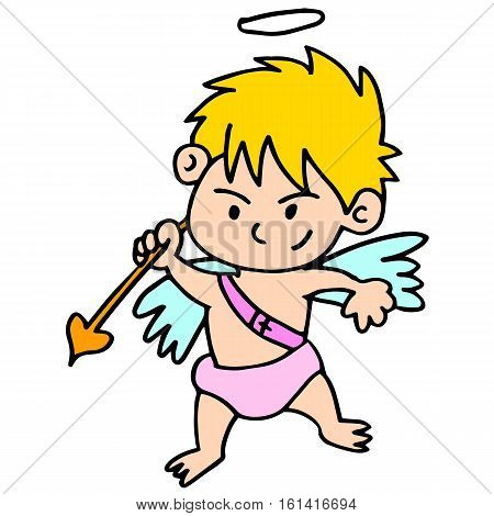 Vector art of cupid character collection stock