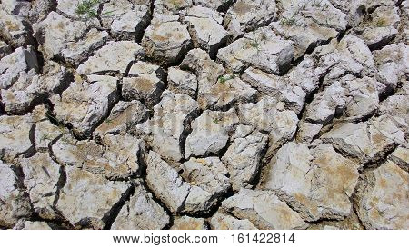 the earth texture  of land drought the soil ground cracks and no water lack of moisture in dry hot weather