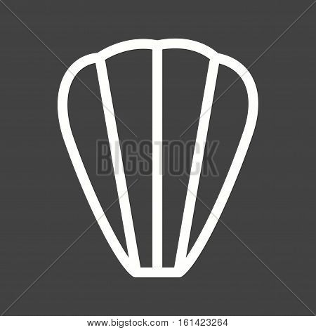 Madeleine, french, cake icon vector image. Can also be used for european cuisine. Suitable for mobile apps, web apps and print media.