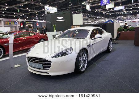 BANGKOK - November 30:ASton Martin Rapide s car on display at Motor Expo 2016 on November 30 2016 in Bangkok Thailand.