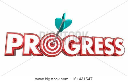Progress Advancing Forward Movement Target Goal 3d Illustration