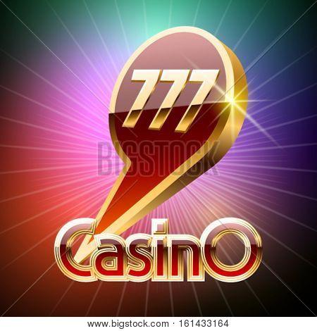 Elite golden vector label for casino