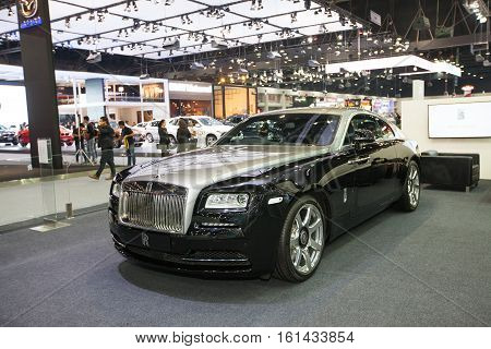 BANGKOK - November 30: Rolls royce on the stage at Motor Expo 2016 on November 30 2016 in Bangkok Thailand.