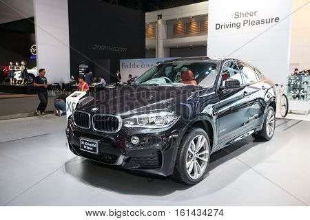 BANGKOK - November 30: BMW X6 xDrive 30d M sport car on display at Motor Expo 2016 on November 30 2016 in Bangkok Thailand.