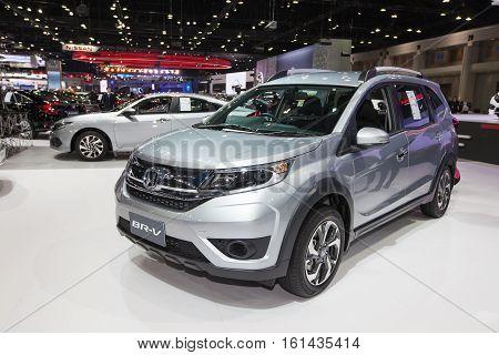 BANGKOK - November 30: Honda BR-V car on display at Motor Expo 2016 on November 30 2016 in Bangkok Thailand.