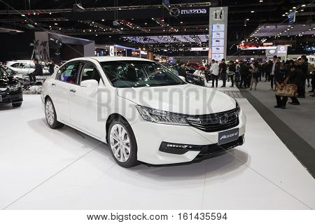 BANGKOK - November 30: Honda Accord car on display at Motor Expo 2016 on November 30 2016 in Bangkok Thailand.