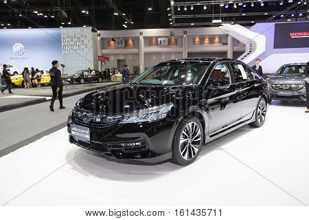 BANGKOK - November 30: Honda Accord Hybrid car on display at Motor Expo 2016 on November 30 2016 in Bangkok Thailand.