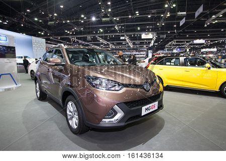 BANGKOK - November 30: MG GS car on display at Motor Expo 2016 on November 30 2016 in Bangkok Thailand.