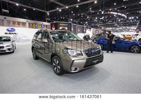 BANGKOK - November 30: Subaru Forester 2.0i-p car on display at Motor Expo 2016 on November 30 2016 in Bangkok Thailand.