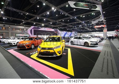 BANGKOK - November 30: Toyota Yaris TRD Sportivo car on display at Motor Expo 2016 on November 30 2016 in Bangkok Thailand.