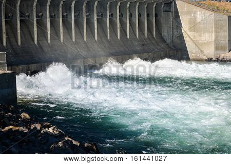 Jackson Dam In Grand Teton National Park