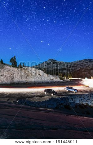 Beautiful Stars Over Yosemite