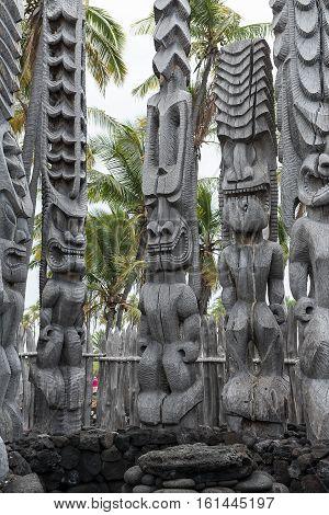 Tiki Artwork On Wood
