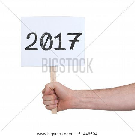 Sign With A Number - The Year 2017