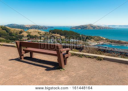 Sausalito top view from Marin Headland San Francisco